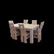 Indiana étkezőgarnitúra, Indiana bővíthető étkezőasztallal, 6db székkel