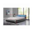 Luxus modern ágy laminált ráccsal, szürke ekobőr, 180x200 DULCE