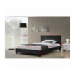 Luxus modern ágy laminált ráccsal, fekete ekobőrrel 180x200 cm , NADIRA