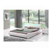 FILIDA luxus modern ágy laminált ráccsal, RGB LED világítással, , fehér ekobőr 1