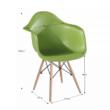 Fotel, bükkfa + zöld, DAMEN NEW