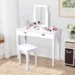 Fésülködőasztal, sminkasztal, fehér, RESINA