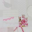 Szőnyeg, romantikus minta, többszínű, 80x200, ADELINE