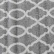 Szőnyeg, világosszürke/minta elefántcsont, 57x90, DESTA