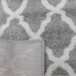Szőnyeg, világosszürke/minta elefántcsont, 160x235, DESTA