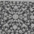 Szőnyeg, sötétszürke/minta, 100x150, AZIR