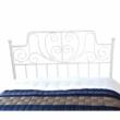 Fém ágy lécezett ráccsal, fém (fehér), 140x200, BEHEMOTH