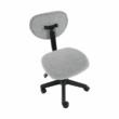 Irodai szék, fekete/szürke, SALIM