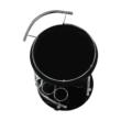 Zsúrasztal, fekete üveg + fém (króm), VESNA