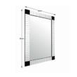 Tükör, ezüst/fekete, ELISON TIP 3