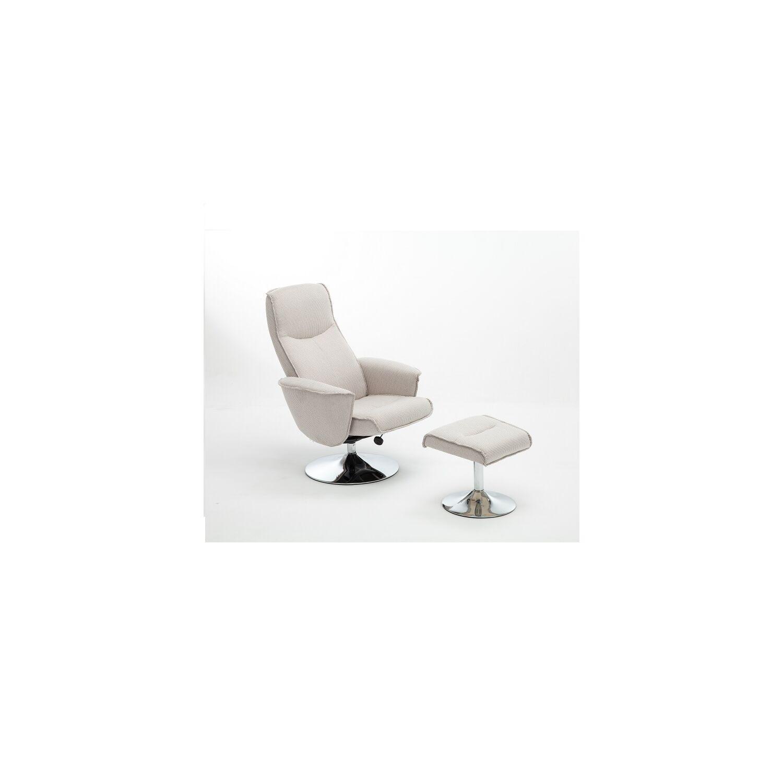 b2b8440677 Fotel lábtartóval, krémszínű, LONATO
