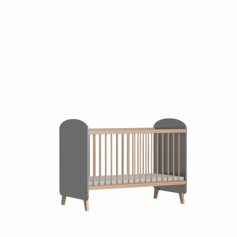 Faktum Colette grey - 120-as babaágy kiságy rágásvédővel