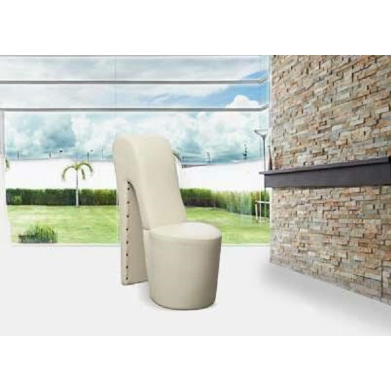 Bota futurisztikus dizájnú fotel FEHÉR színben