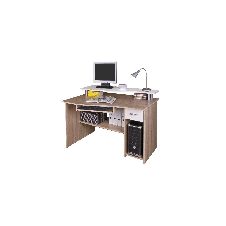 6d513e9bfea0 Számítógépasztal, sonoma tölgyfa/fehér, PLUTO - Számítógépasztal