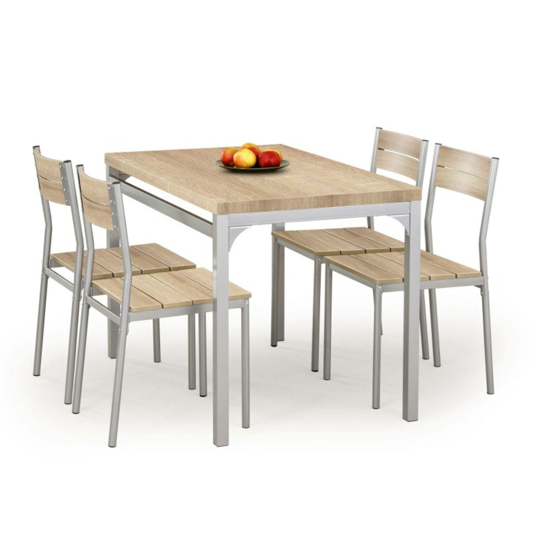 MALCOLM asztal  és  4 szék sonoma tölgy