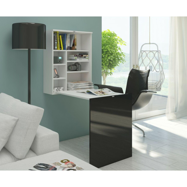 HIDE lehajtható íróasztal fehér-fekete