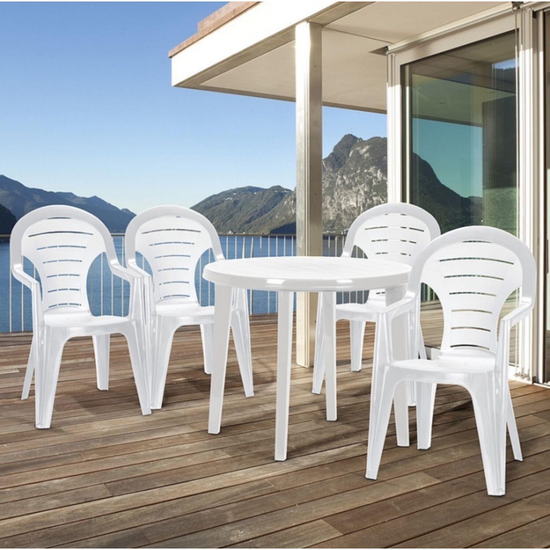 Curver Bonaire műanyag kerti szék, sötétzöld Kerti asztal