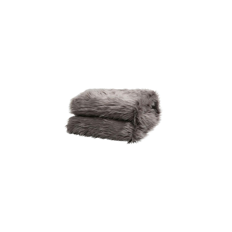 Szőrmés pléd szürke 150x180 EBONA TYP 5