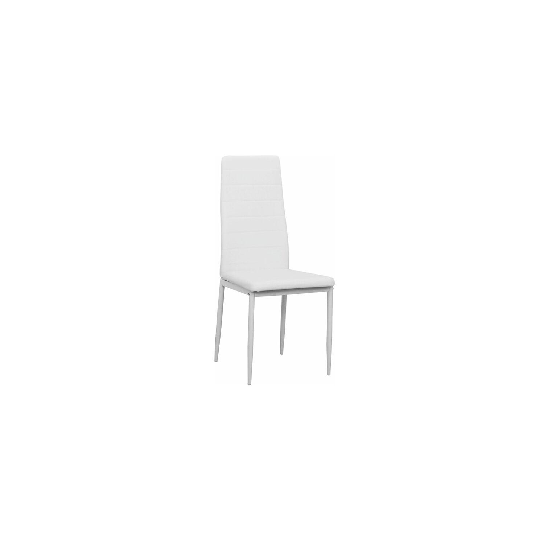 Étkezőszék, fehér textilbőr + fém fehér, COLETA NOVA