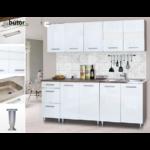 Dorina konyhablokk bútorlap fronttal, 200 cm magasfényű fehér