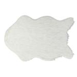 Műszőrme, fehér/ezüst, 60x90, FOX TYP 1