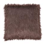 Párna, szürke-barna-taupe/ezüst, 45x45, FOXA TYP 4