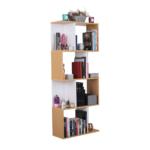 Könyvespolc, tűnyalábos fenyő/fehér, ERDEM NEW TYP 2