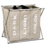 Laundry mósókosár, szürkés bézs, LAUNDRY 3 TÍPUS