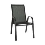 ALDERA  Egymásra rakható szék, szín : fekete / sötétszürke