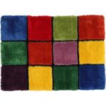 Szőnyeg, piros/zöld/sárga/lila, 100x140, LUDVIG TYP 4