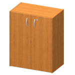 Alacsony szekrény + zár, cseresznye, TEMPO ASISTENT NEW 011