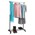 Görgős ruhaálvány, rozsdamentes fém/fekte műanyag, DOLFO