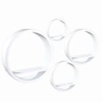 Polc készlet, kör alakú, fehér, 4 db, EMA FY 8211