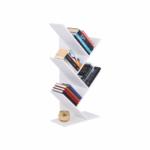 Könyvespolc, fehér, BAKI NEW TYP 3