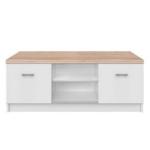 RTV asztal 2d, DTD laminált, fehér/tölgy sonoma, TOPTY