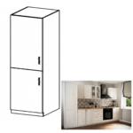 Hűtő beépítő konyhaszekrény D60ZL, balos, fehér/sosna Andersen, SICILIA