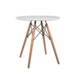 GAMIN 60 étkezőasztal, szín: bükkfa / fehér