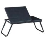Laptop asztal, notebook asztal, laptoptartó, fekete, EVALD