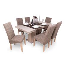 Flóra étkezőgarnitúra (6 db berta szék + 1 db Flóra asztal)