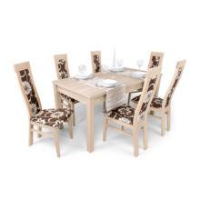 Dante-Berta étkezőgarnitúra (6db Dante szék + Berta asztal)