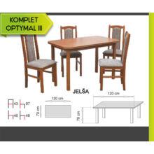 Optymal III. étkezőgarnitúra 4db székkel és 1db fix asztallal