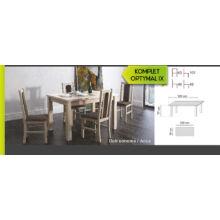 Optymal IX. étkezőgarnitúra 4db székkel és 1db fix asztallal