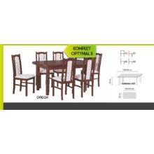 Optymal II. étkezőgarnitúra 6db székkel és 1db bővíthető asztallal