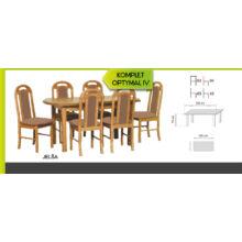 Optymal IV. étkezőgarnitúra 6db székkel és 1db fix asztallal