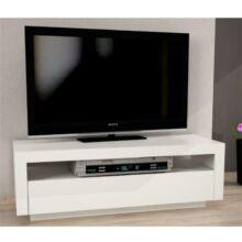 TV asztal/szekrény, fehér, AGNES