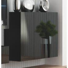 LIVO KM-120, fali szekrény, fekete