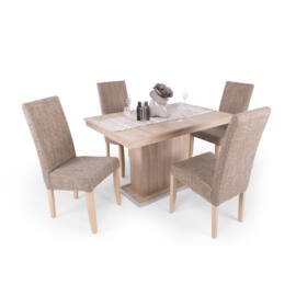 Flóra étkezőgarnitúra (4 db berta szék  és  1 db Flóra asztal)