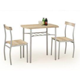 LANCE asztal + 2 szék, sonoma tölgy
