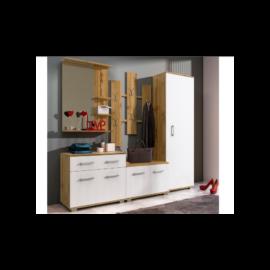 LARA előszobabútor (Wotan tölgy-fehér)