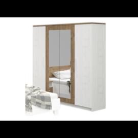 MARKOS szekrény (Anderson tölgy - fehér)